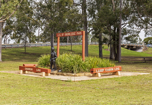 Log of Knowledge Park in Kurri Kurri