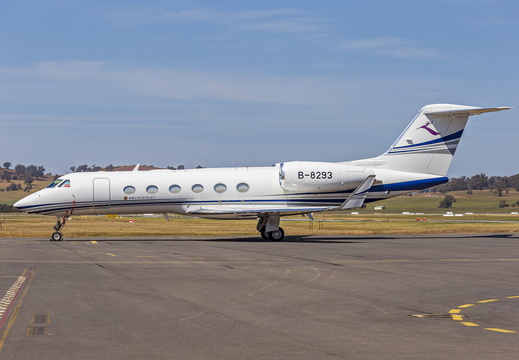 Deer Jet (B-8293) Gulfstream G450 at Wagga Wagga Airport