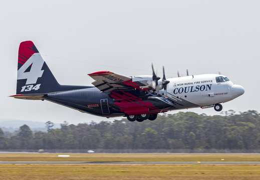 Coulson Aviation (N134CG) Lockheed EC-130Q Hercules departing HMAS Albatross